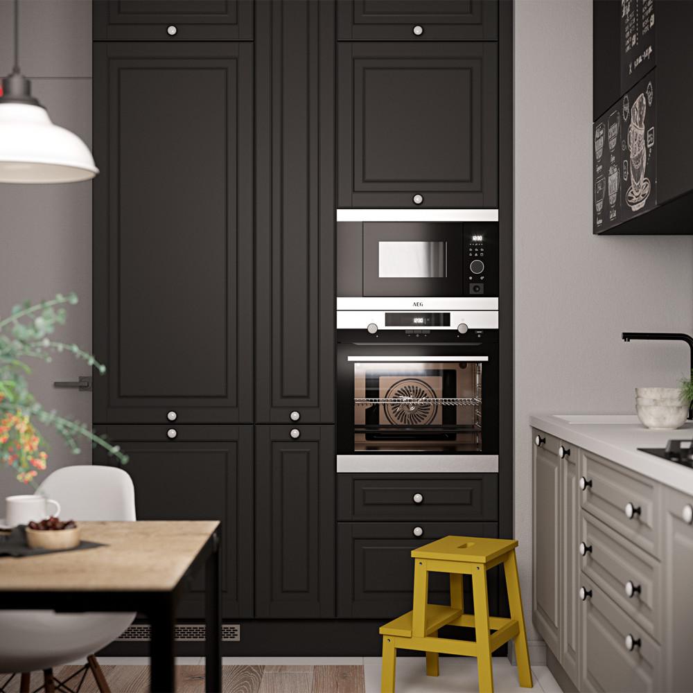 Клайд (МДФ/ПВХ), цвет Маренго / Теплый Серый, пластик с магнитной поверхностью